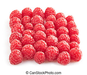 fresh organic raspberries