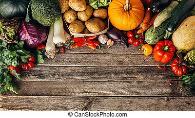 Fresh organic raw vegetables