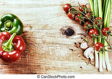 Fresh organic vegetables. Healthy eating concept