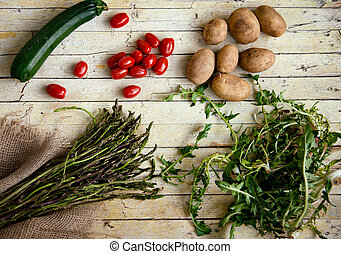 Fresh organic vegetables. Food background. Healthy food from...