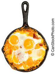 Fresh Oven Baked Eggs with Sausage and Cheese