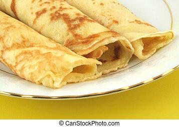 fresh pancakes on plate