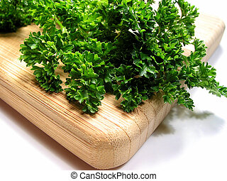 Fresh parsley on cutting board 1