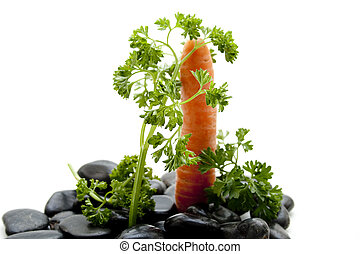 Fresh parsley with carrot