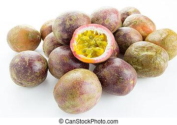 Fresh Passion fruit isolated on white background