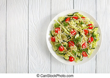 fresh pasta salad on a plate
