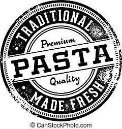 Vintage style fresh pasta sign for Italian restaurants.