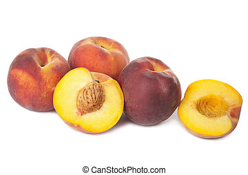 fresh peaches isolated