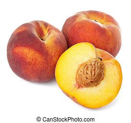 fresh peaches isolated