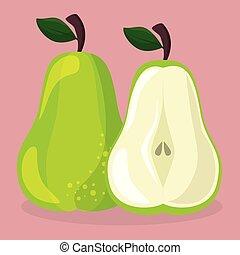 fresh pear fruit healthy food