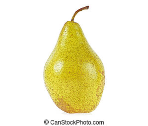 Fresh pear isolated on a white background