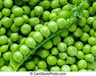 Fresh peas - Fresh young peas background macro