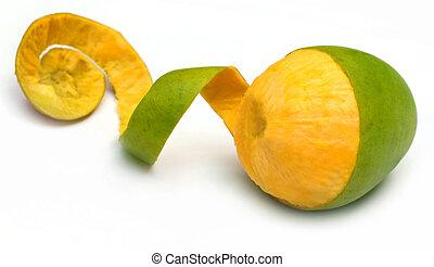 Fresh peeled mango