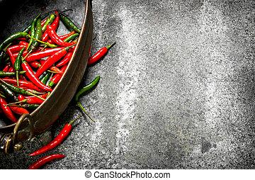 Fresh pepper in a bowl.