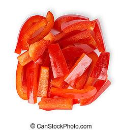 Fresh pepper slices