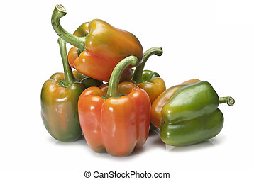 Fresh peppers to cook.