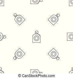 Fresh perfume pattern seamless vector