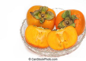 Fresh Persimmon fruit slice