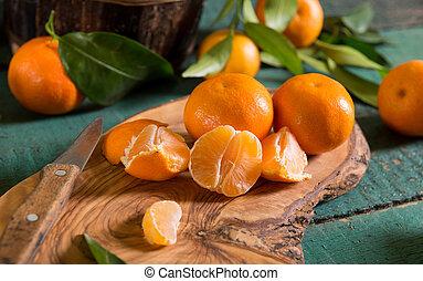 Fresh picked mandarins