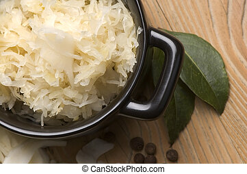 Fresh pickled cabbage - traditional polish sauerkraut