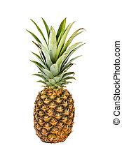 .Fresh pineapple fruit isolated on white background