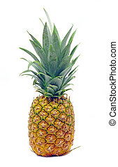 Fresh pineapple fruit over white