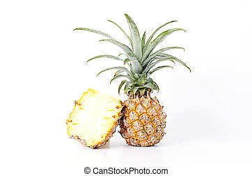 Fresh Pineapple fruits Isolated on white backgrounds