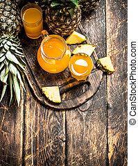 Fresh pineapple juice.