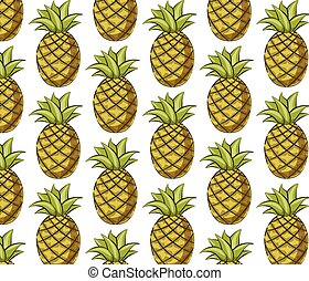 Fresh pineapple pattern