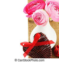 Fresh pink peonies in vase