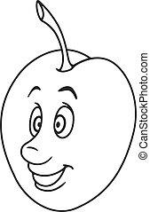 Fresh plum cartoon