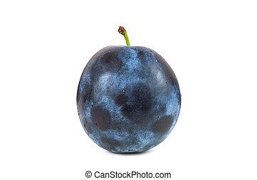 Fresh plum isolated on white background