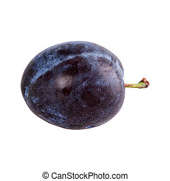 Fresh plum on a white background