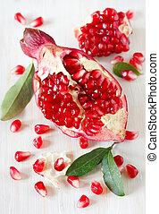 Fresh pomegranate.