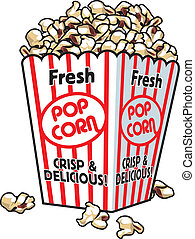 Fresh Popcorn - A box with fresh popcorn