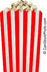 Fresh popcorn mockup, realistic style