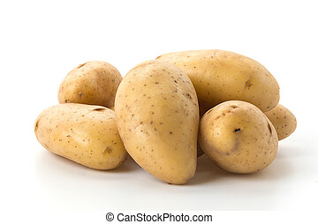 fresh potato on white background