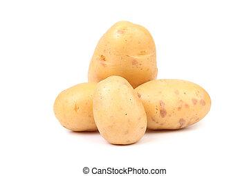 Fresh potatoes.