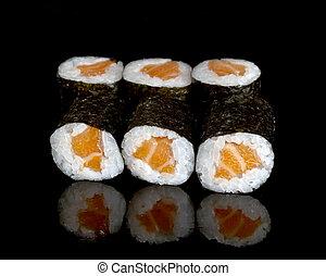 sushi rolls - fresh prepared japanese sushi rolls