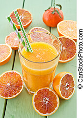 Fresh pressed blood orange juice