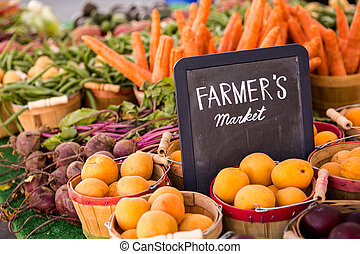 Fresh produce - Fresh organic produce on sale at the local...