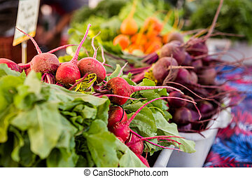 Fresh produce - Fresh organic produce on sale at the local ...