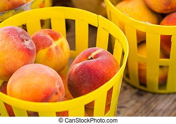 Organic fresh produce at the local farmers market.