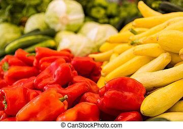 Fresh produce - Fresh organic produce on sale at the local...