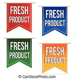 Fresh product banner design set