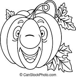 Fresh pumpkin cartoon