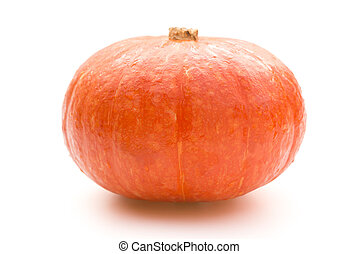 fresh pumpkin on white with clipping path