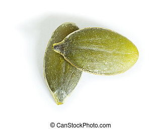 seeds  - fresh pumpkin seeds isolated on a white