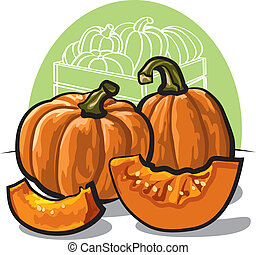 Fresh  pumpkins