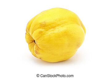 quince - fresh quince isolated on white